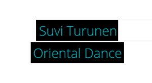 Suvi Turunen Oriental Dance